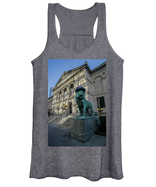 Chicago's Art Institute With Cubs Hat Women's Tank Top