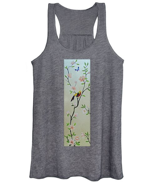 Chinoiserie - Magnolias And Birds #1 Women's Tank Top