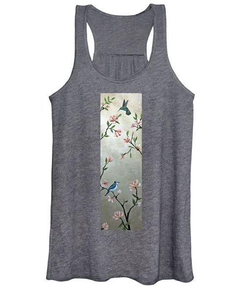Chinoiserie - Magnolias And Birds Women's Tank Top