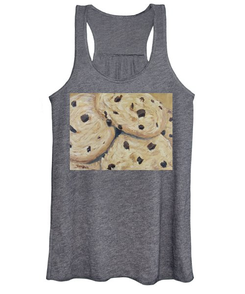 Women's Tank Top featuring the painting Chocolate Chip Cookies by Nancy Nale