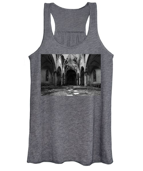 Church In Black And White Women's Tank Top