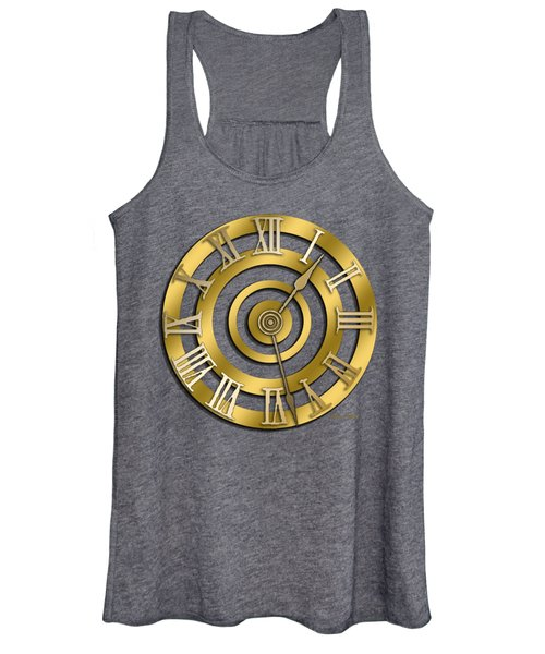 Circular Clock Design Women's Tank Top