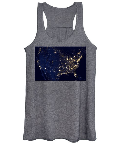 City Lights Of The United States Women's Tank Top