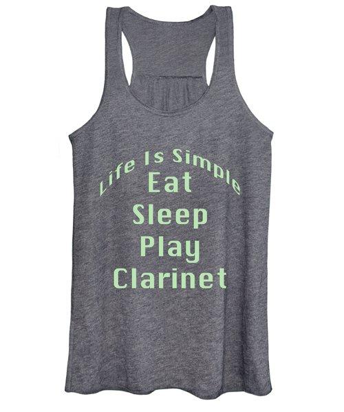 Clarinet Eat Sleep Play Clarinet 5511.02 Women's Tank Top