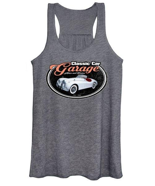 Classic Car Garage Jag Women's Tank Top