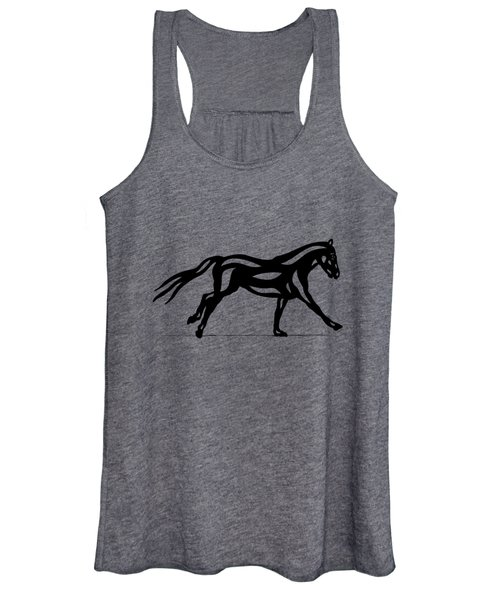 Clementine - Abstract Horse Women's Tank Top
