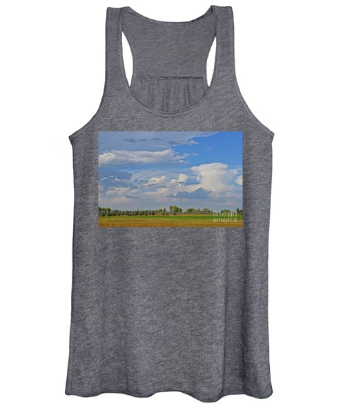 Clouds Aboive The Tree Farm Women's Tank Top