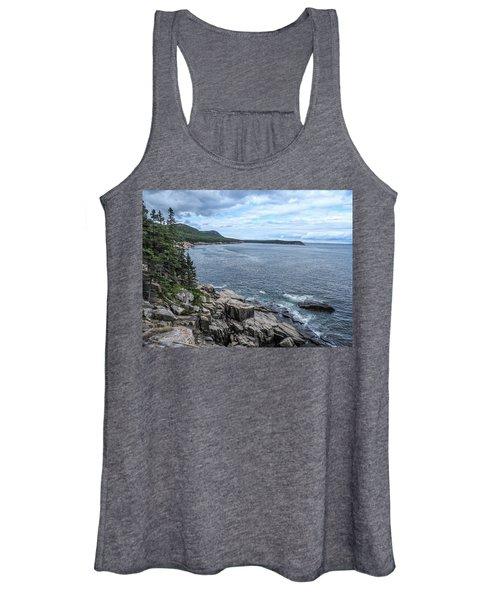 Coastal Landscape From Ocean Path Trail, Acadia National Park Women's Tank Top