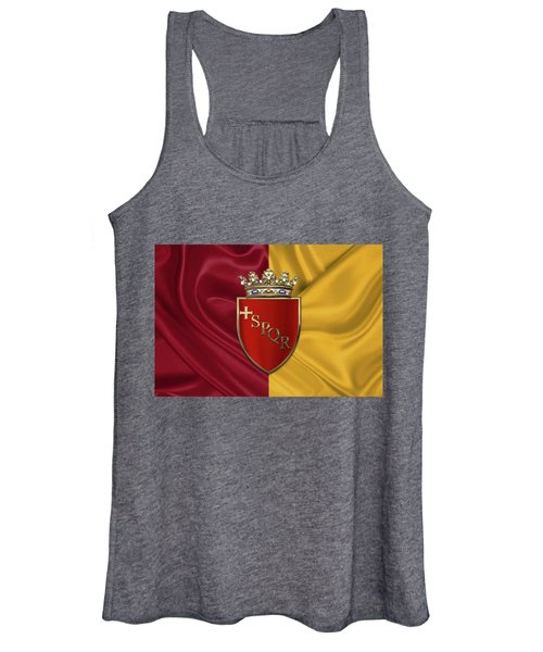 Coat Of Arms Of Rome Over Flag Of Rome Women's Tank Top