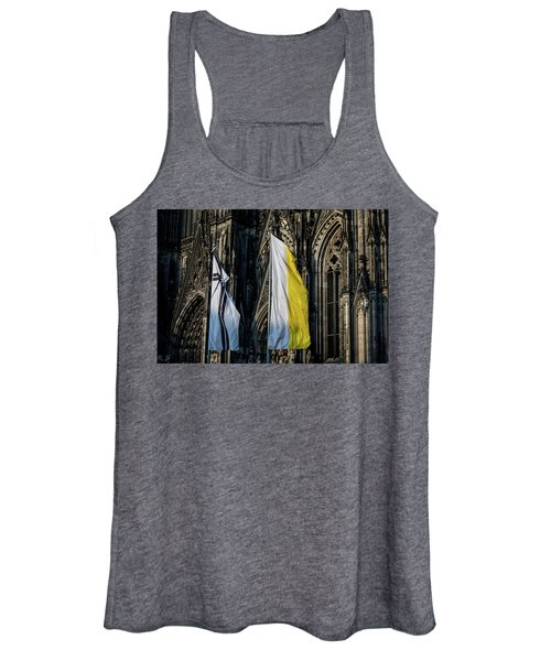 Cologne Cathedral Flags Women's Tank Top