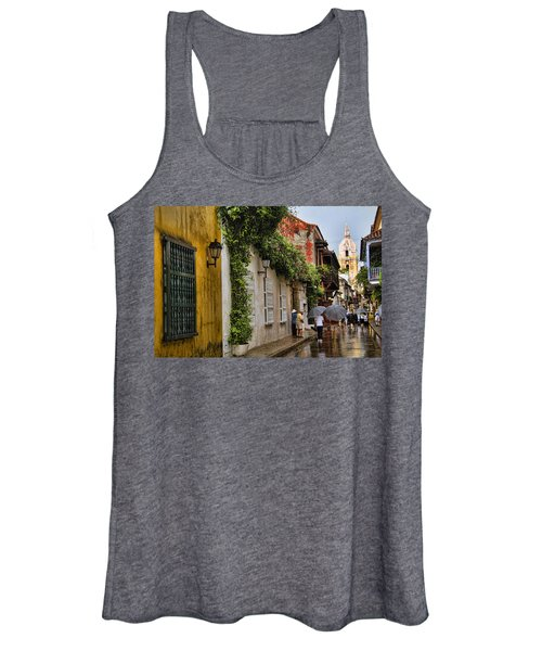 Colonial Buildings In Old Cartagena Colombia Women's Tank Top