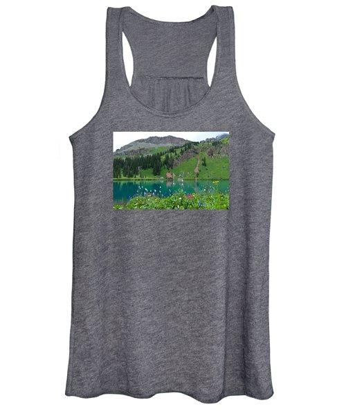 Colorful Blue Lakes Landscape Women's Tank Top