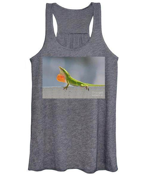 Colorful Carolina Anole Lizard Women's Tank Top