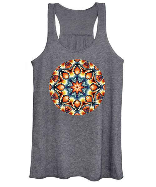 Colorful Concentric Motif Women's Tank Top