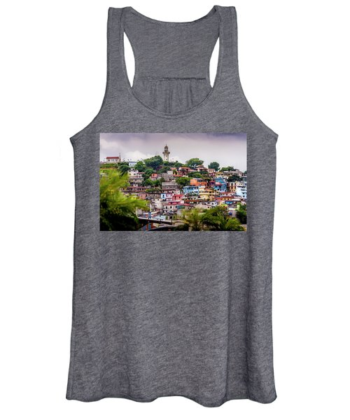 Colorful Houses On The Hill Women's Tank Top