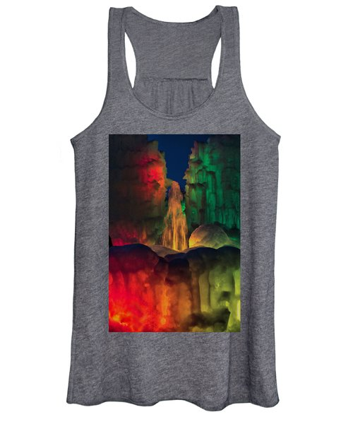 Colorful Ice  Women's Tank Top