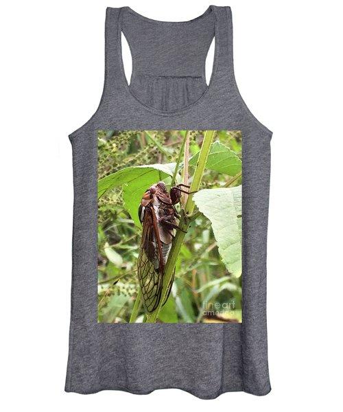 Colorful Summer Cicada Women's Tank Top