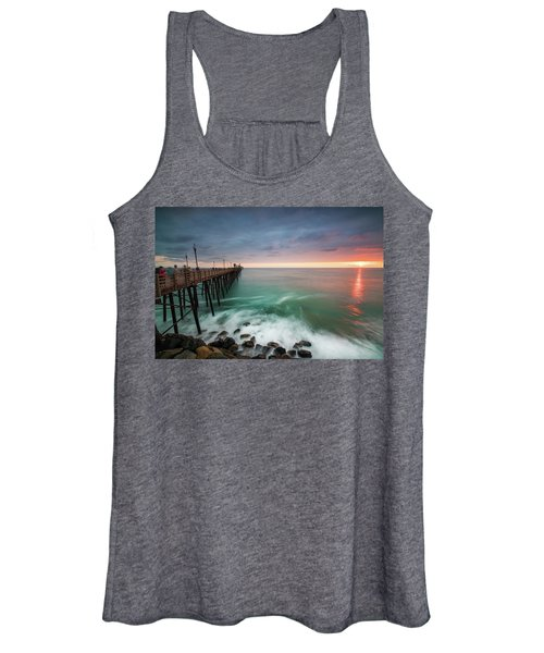 Colorful Sunset At The Oceanside Pier Women's Tank Top
