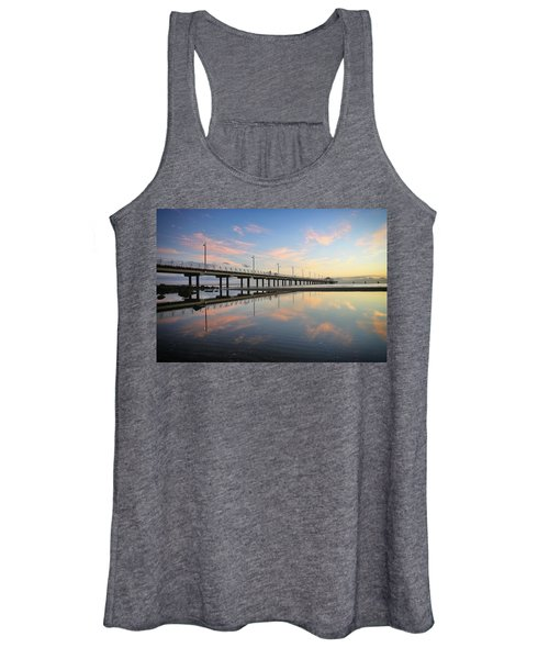 Colourful Cloud Reflections At The Pier Women's Tank Top
