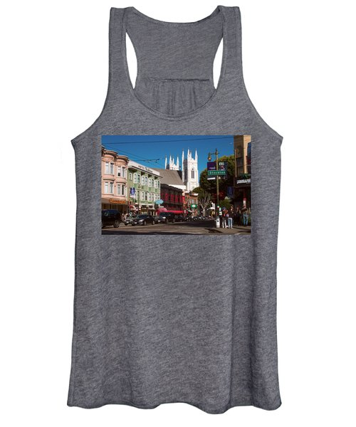 Columbus And Stockton In North Beach Women's Tank Top