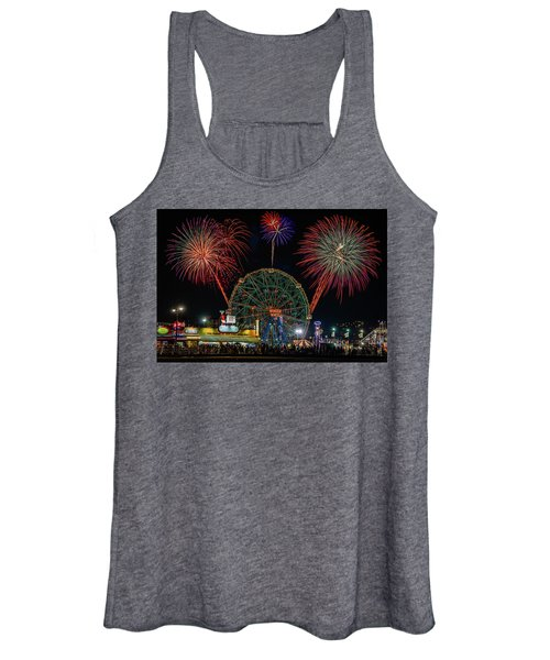 Coney Island At Night Fantasy Women's Tank Top