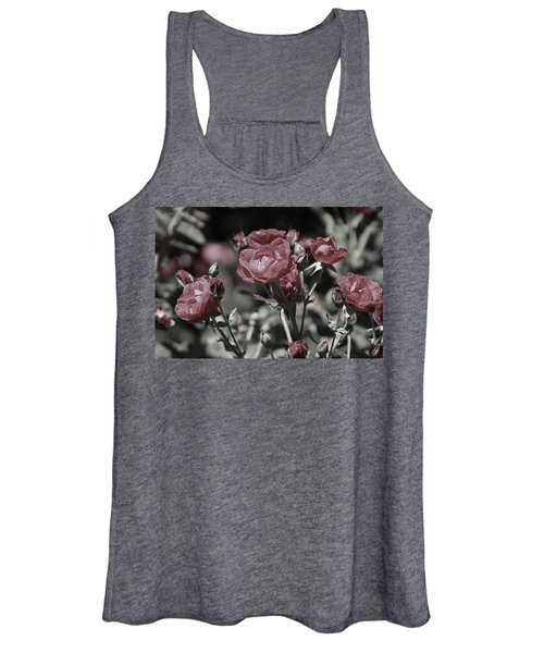 Copper Rouge Rose In Almost Black And White Women's Tank Top