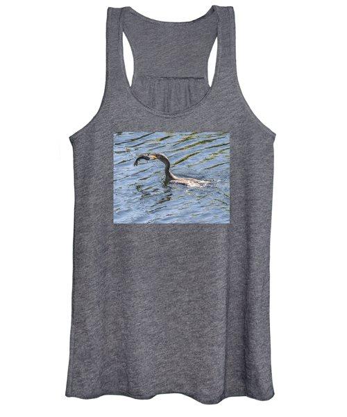 Cormorant Caught Fish Women's Tank Top