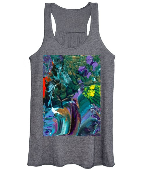 Cosmic Feathered Webbed Universe Women's Tank Top
