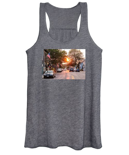 Cottage Street Summer Sunset Women's Tank Top
