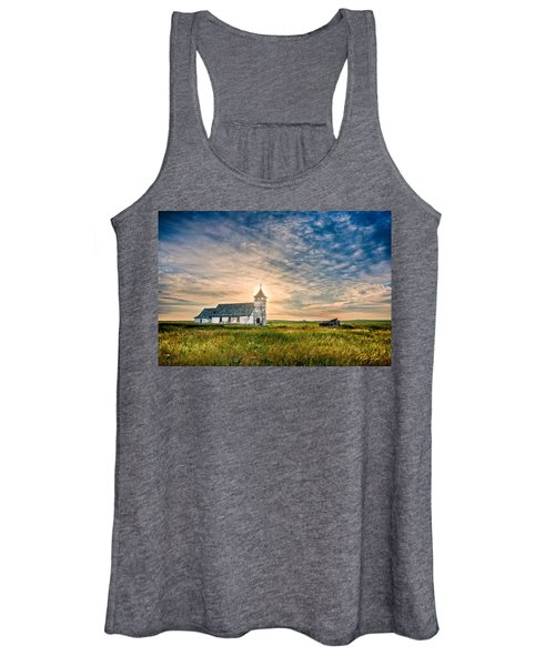 Country Church Sunrise Women's Tank Top