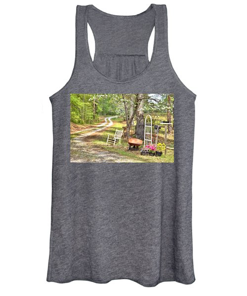 Country Driveway In Springtime Women's Tank Top