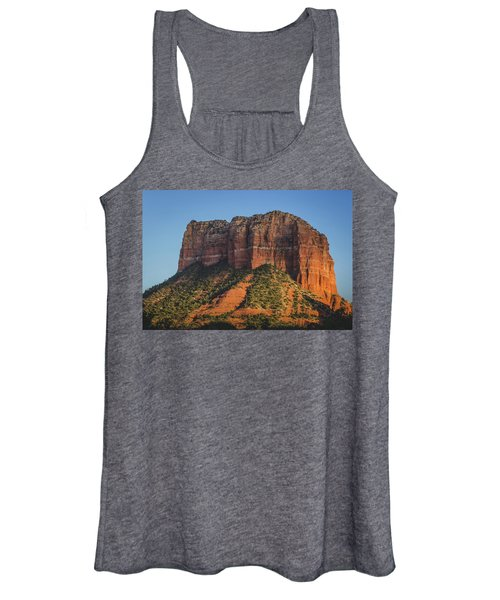 Courthouse Butte At Sunset Women's Tank Top