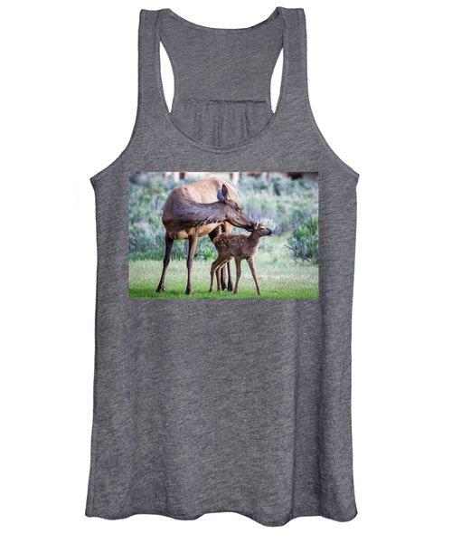 Cow And Calf Elk Women's Tank Top
