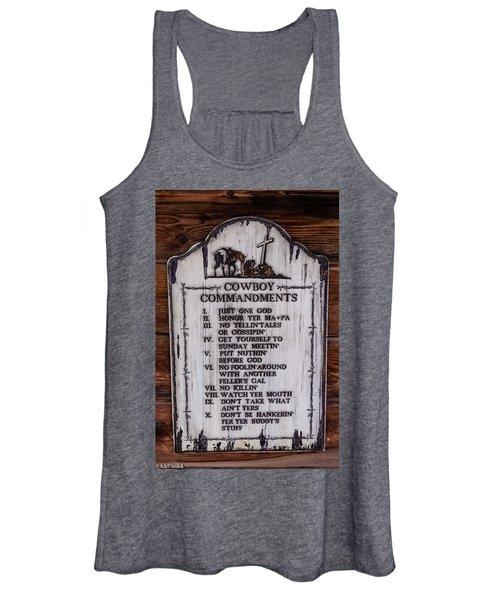 Cowboy Commandments Women's Tank Top