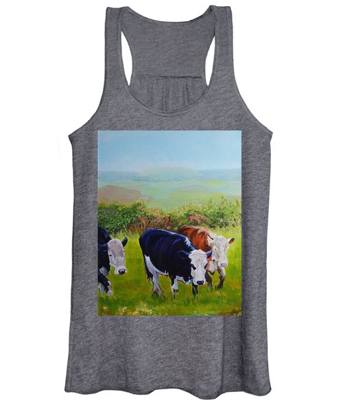 Cows And English Landscape Women's Tank Top