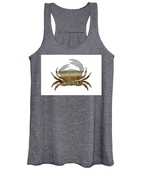 Women's Tank Top featuring the photograph Crab Beach by Michael Colgate