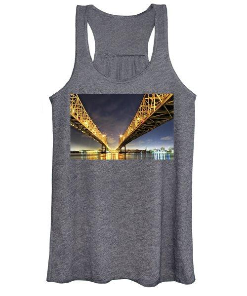 Crescent City Bridge In New Orleans Women's Tank Top