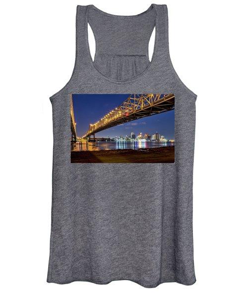 Crescent City Bridge, New Orleans Women's Tank Top