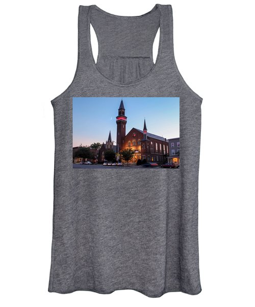 Crescent Moon Over Old Town Hall Women's Tank Top