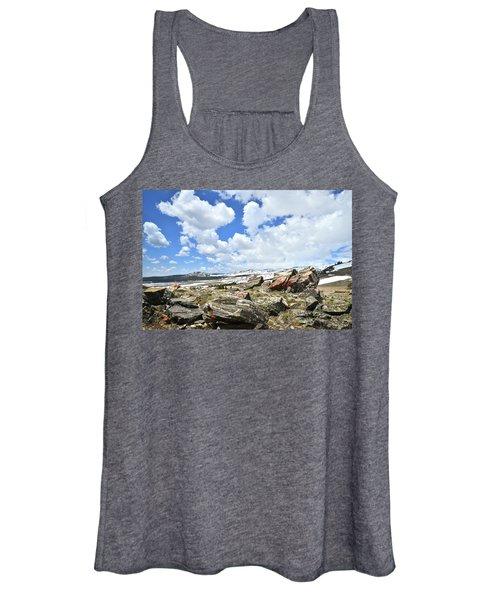 Crest Of Big Horn Pass In Wyoming Women's Tank Top
