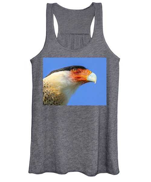 Crested Caracara Face Women's Tank Top