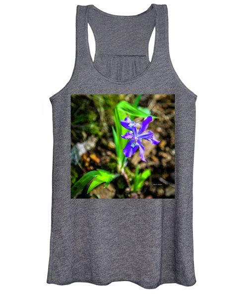 Crested Dwarf Iris Women's Tank Top