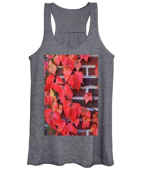 Crimson Leaves Women's Tank Top