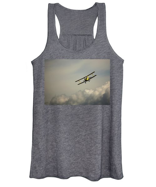 Women's Tank Top featuring the photograph Crop Duster by Bob Cournoyer