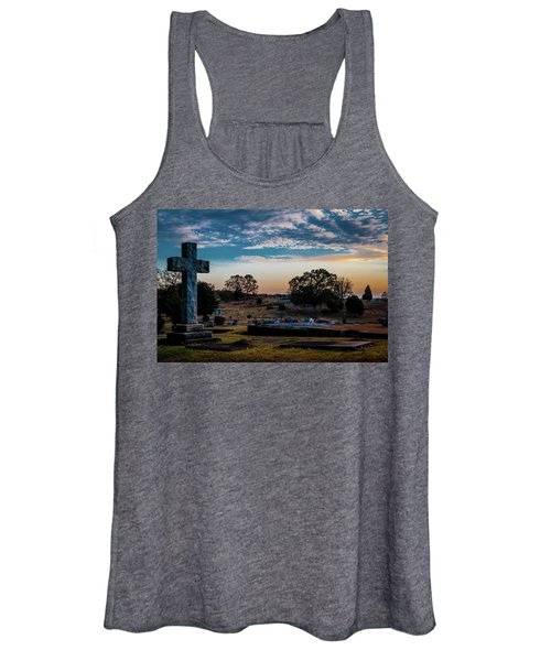 Cross At Sunset Women's Tank Top