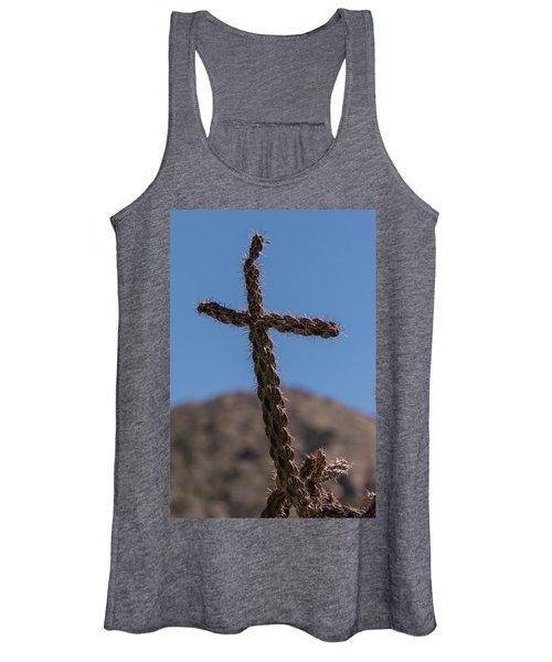 Cactus Cross Women's Tank Top