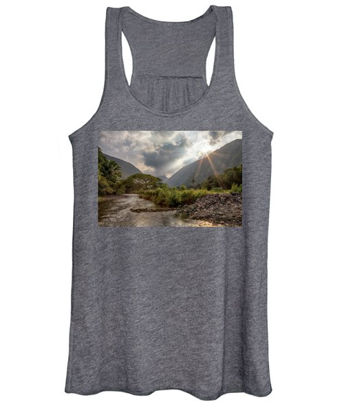 Crossing Hiilawe Stream Women's Tank Top