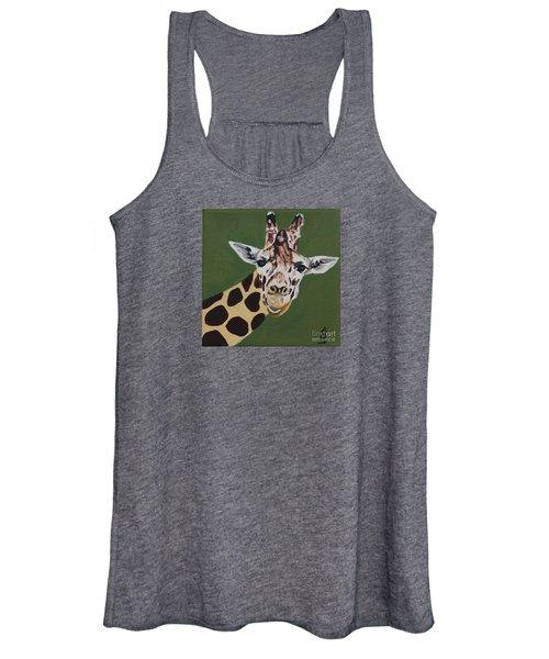 Curious Giraffe Women's Tank Top