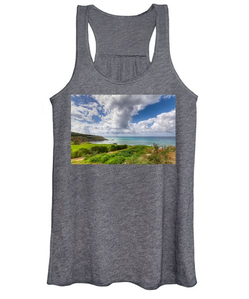 Cyprus Spring Seascape And Landscape Women's Tank Top