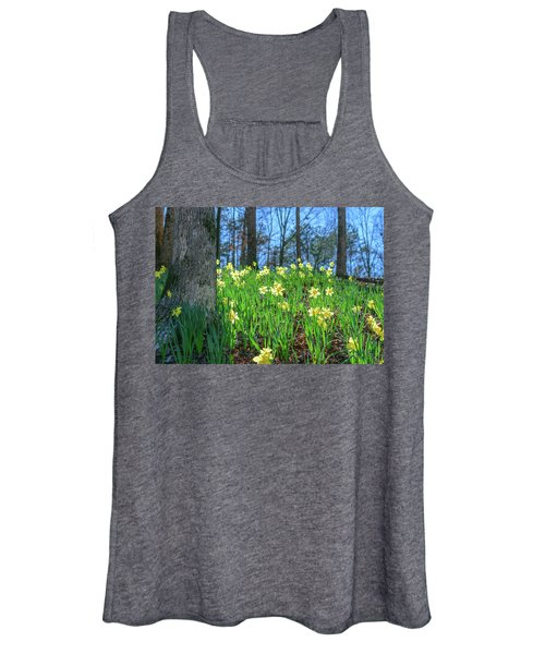 Daffodils On Hillside 2 Women's Tank Top